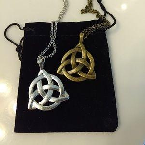 Restocked Irish knot necklaces